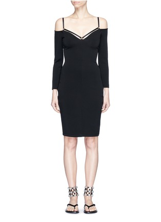Main View - Click To Enlarge - T By Alexander Wang - Cold shoulder long sleeve dress