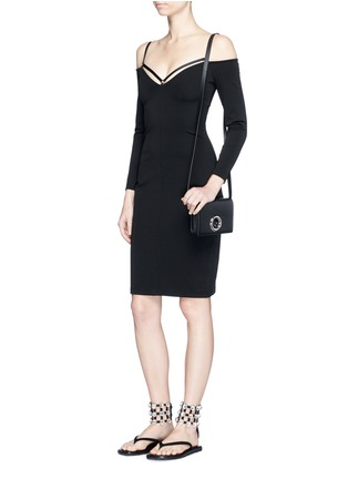 Figure View - Click To Enlarge - T By Alexander Wang - Cold shoulder long sleeve dress