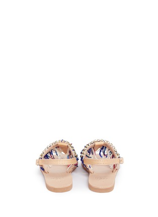 Back View - Click To Enlarge - MABU by Maria BK - 'Sapphire' embellished fringe leather thong sandals