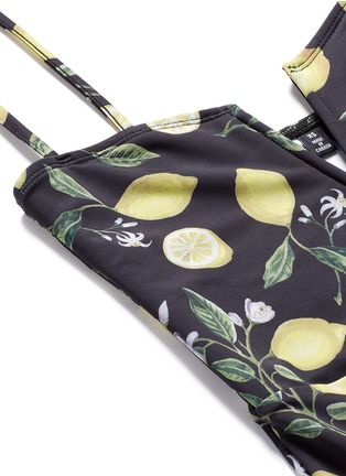 Detail View - Click To Enlarge - Beth Richards - 'Gisele' lemon print one-piece swimsuit