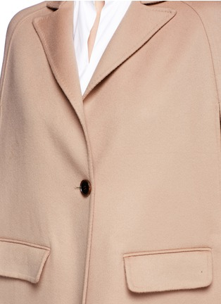 Detail View - Click To Enlarge - Valentino - Compacted virgin wool-cashmere cape coat