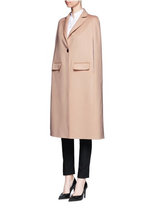 Front View - Click To Enlarge - Valentino - Compacted virgin wool-cashmere cape coat