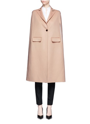 Main View - Click To Enlarge - Valentino - Compacted virgin wool-cashmere cape coat