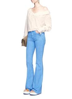 Stella McCartneyDrawstring neck silk crepe de Chine blouse