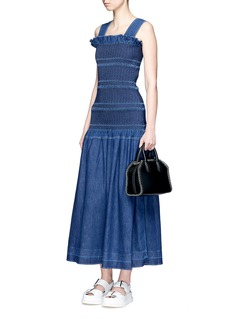 Stella McCartney 'Anija' smocked denim maxi dress