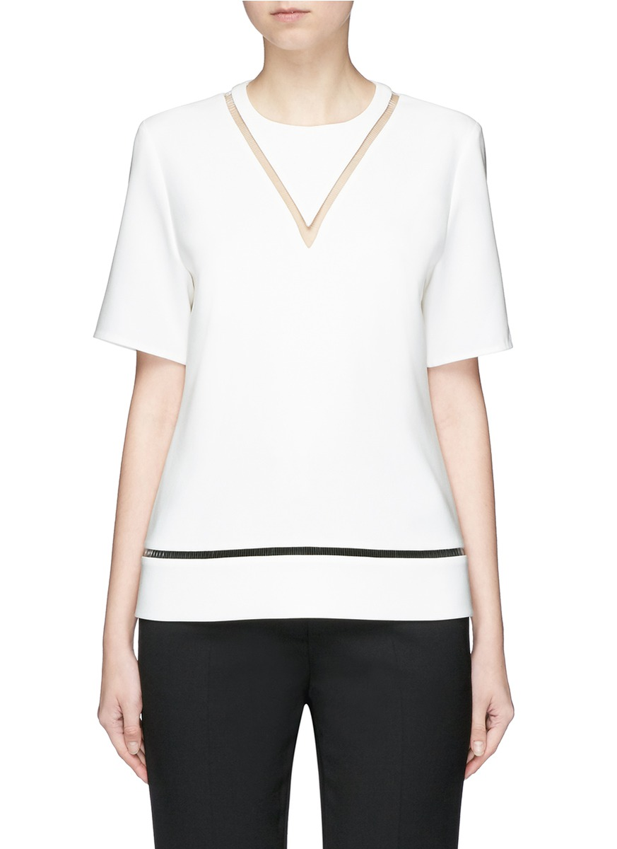 Fish line suspended boxy top by Alexander Wang