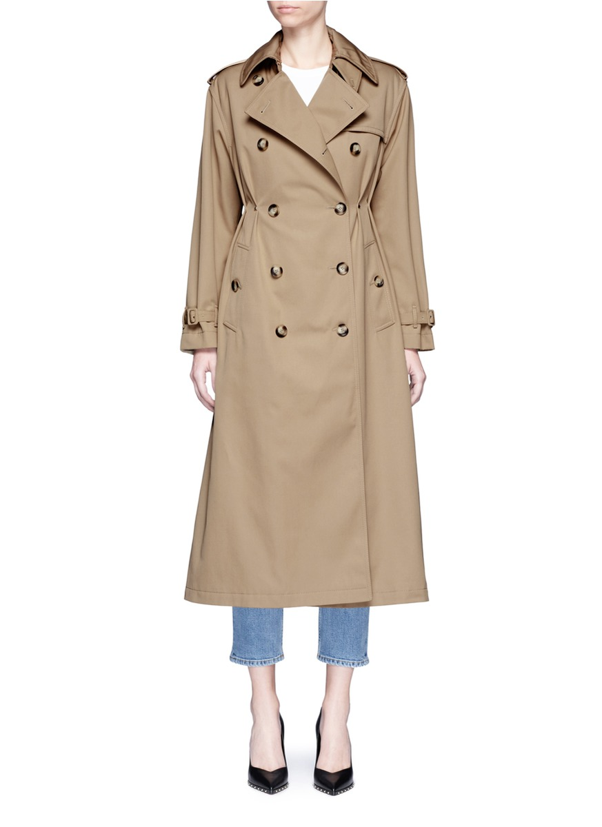 valentino female rockstud untitled 01 gathered waist trench coat