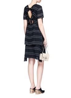 Proenza Schouler Pinstripe high-low hem gathered skirt