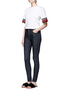 VICTORIA, VICTORIA BECKHAM'Powerhigh' raw denim skinny jeans