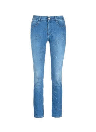Main View - Click To Enlarge - Stella McCartney - Distressed star stitch boyfriend jeans