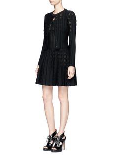 Alaïa 'Bossa Nova' geometric stripe sleeveless dress