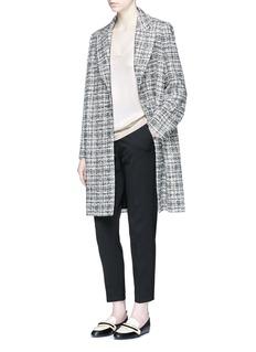LanvinGlitter tweed single button oversized coat