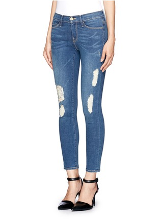 Front View - Click To Enlarge - Frame Denim - 'Le Skinny de Jeanne' distressed jeans
