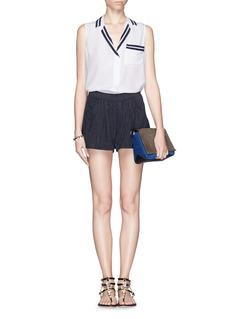 FRAME DENIM'Le Culotte' stripe denim shorts