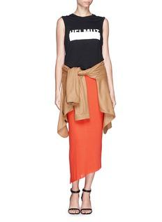 HELMUT LANGAsymmetric wrap jersey skirt