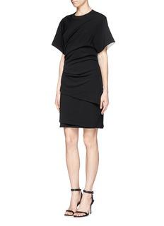 HELMUT LANG'Asymmetric Sleeve' ruche dress