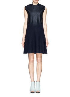 3.1 PHILLIP LIM Lacquer bodice knit dress