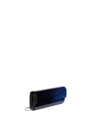 Front View - Click To Enlarge - Jimmy Choo - 'Sweetie' degradé glitter acrylic clutch