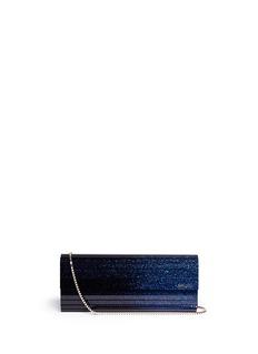 JIMMY CHOO'Sweetie' degradé glitter acrylic clutch