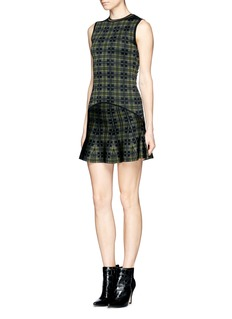 TORN BY RONNY KOBO Drop waist plaid dress