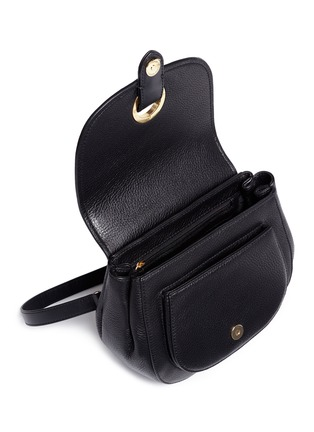 - Michael Kors - 'Isadore' medium suede flap leather crossbody saddle bag