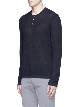 James perse cotton cashmere thermal henley t shirt men for James perse henley shirt