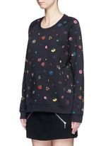 Tanami flower print French terry sweatshirt
