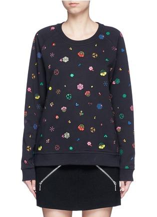 KENZO-Tanami flower print French terry sweatshirt