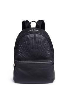 Neil BarrettThunderbolt embossed leather backpack