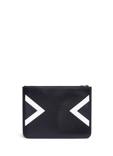 Neil Barrett 'Retro Modernist' print zip document case