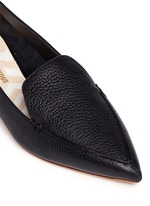 'Beya' metal heel leather skimmer loafers