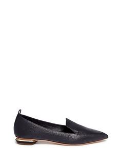 Nicholas Kirkwood'Beya' metal heel leather skimmer loafers