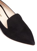 'Casati' faux pearl heel suede loafers