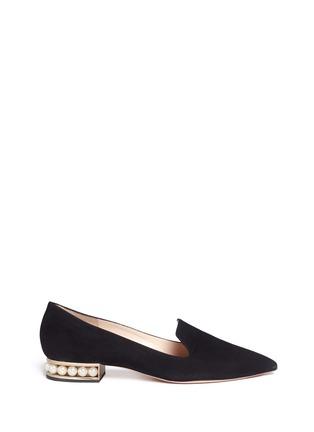 Nicholas Kirkwood-'Casati' faux pearl heel suede loafers