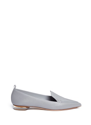 Nicholas Kirkwood - 'Beya' metal heel leather skimmer loafers