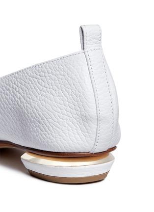 Nicholas Kirkwood-'Beya' metal heel leather skimmer loafers