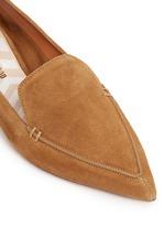 'Beya' metal heel suede skimmer loafers