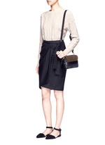 'Bianca' small fringe leather crossbody bag