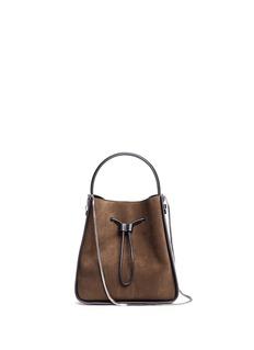 3.1 PHILLIP LIM'Soleil' small colourblock leather drawstring bucket bag