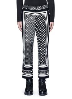 SacaiDot scarf print cropped flannel pyjama pants