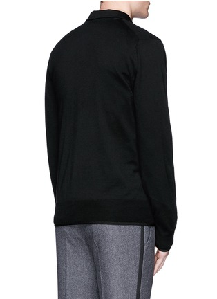 Back View - Click To Enlarge - Sacai - Notched lapel wool knit jacket