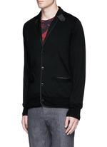 Notched lapel wool knit jacket