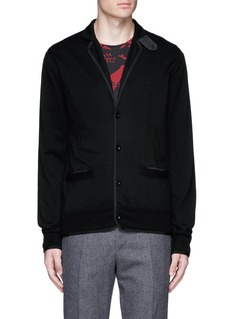 Sacai Notched lapel wool knit jacket