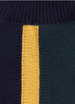 Detail View - Click To Enlarge - Sacai - Colourblock stripe cotton socks