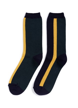 Main View - Click To Enlarge - Sacai - Colourblock stripe cotton socks