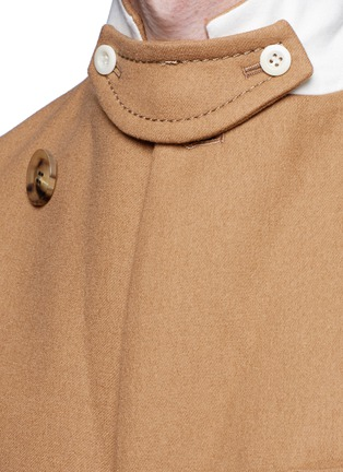 Detail View - Click To Enlarge - Sacai - Shearling underlay wool military coat