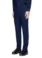 Velvet trim cotton pants