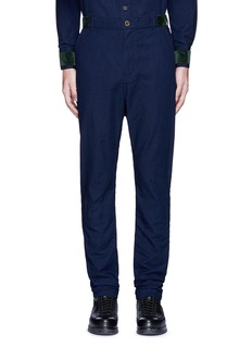 Sacai Velvet trim cotton pants