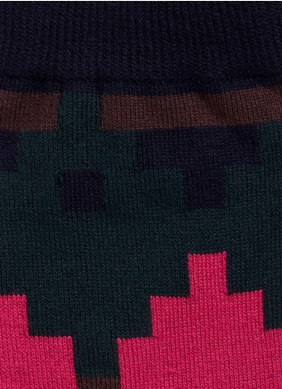 Detail View - Click To Enlarge - Sacai - Colourblock check cotton socks