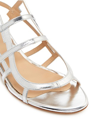 Detail View - Click To Enlarge - CHELSEA PARIS - 'Bain' caged mirror leather sandals